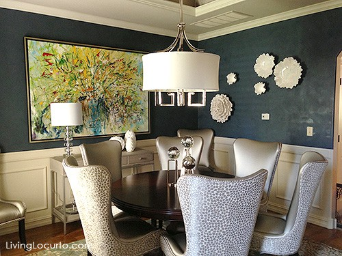 Beautiful Dinning Room! Get great decorating ideas from this gorgeous home. LivingLocurto.com