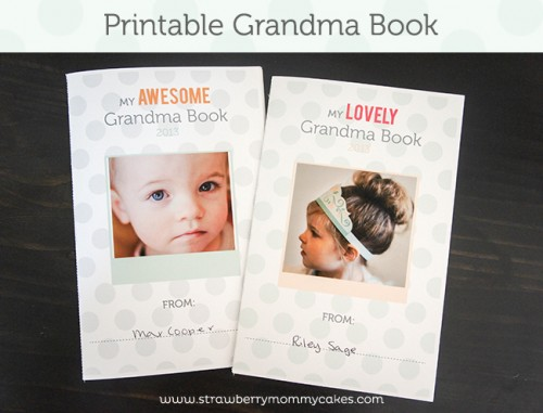 Free Printable Grandma Book From Strawberry Mommy Cakes