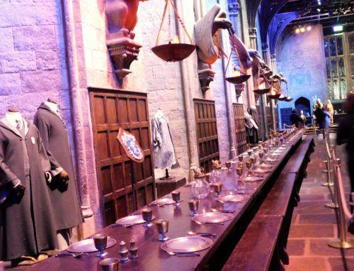 The great hall at hogwarts