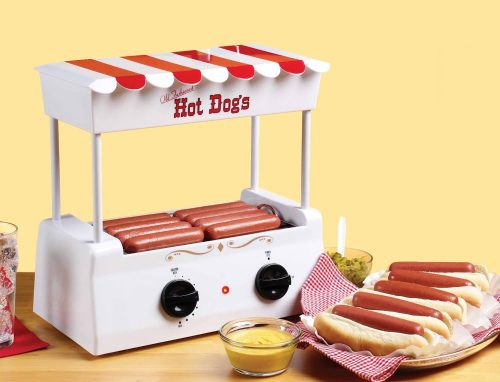Hot Dog Toaster Stand.  All kinds of hot dog goodies perfect for a summer party or funny gift!