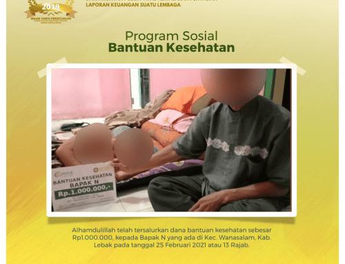 Bantuan Kesehatan kepada Bapak N di Wanasalam, Lebak