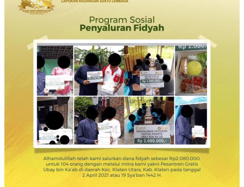 Program Penyaluran Fidyah kepada Salah Satu Mitra Pesantren Gratis Ubay bin Ka'ab di Klaten