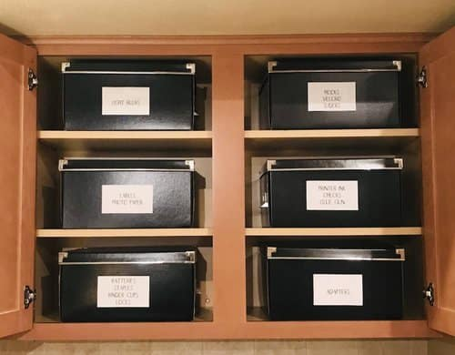 Storage Box Organization