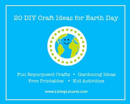 Earth Day Repurposed Craft, Gardending, Free Printables and Kid Crafts at LivingLocurto.com