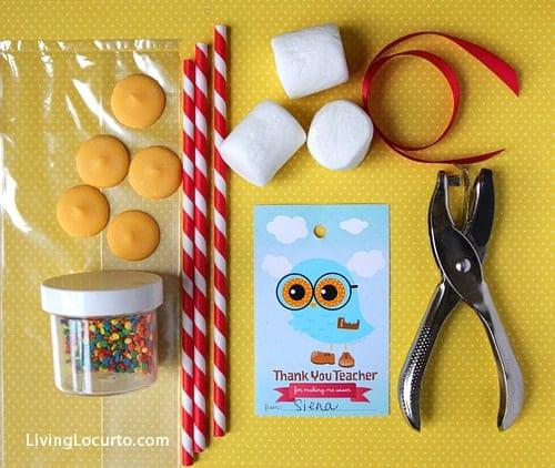 Teacher Appreciation Gift Idea - Free Printable Owl Tags