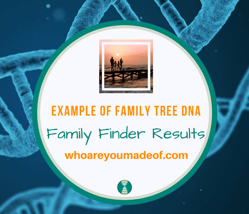 Example of Family Tree DNA Family Finder Results