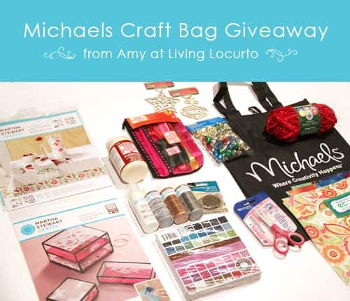 Michaels Craft Giveaway from Living Locurto