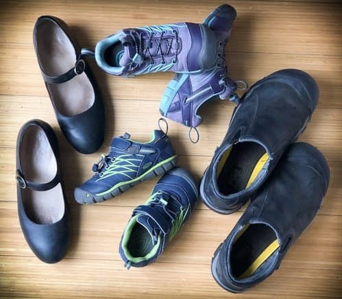 Comfortable shoes are great items for your vacation packing list