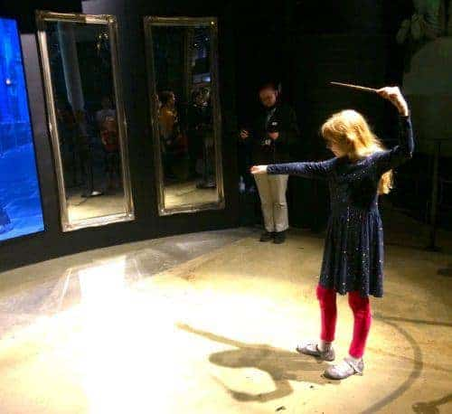 Wizard dueling at the warner brothers studios near london