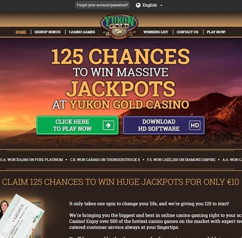 Yukon Gold Casino free play games