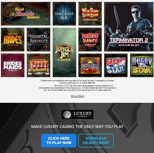 Luxury Casino Review: 150 free spins and €1000 bonus on jackpots