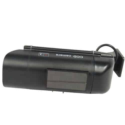 sun powered dummy camera with led