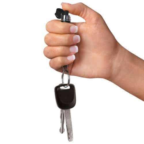 Mace Keyguard® Pepper Spray – Black In Hand