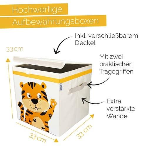 Glückswolke Spielzeugkiste Tiger Aufbewahrungsbox Kinder Kinderzimmer