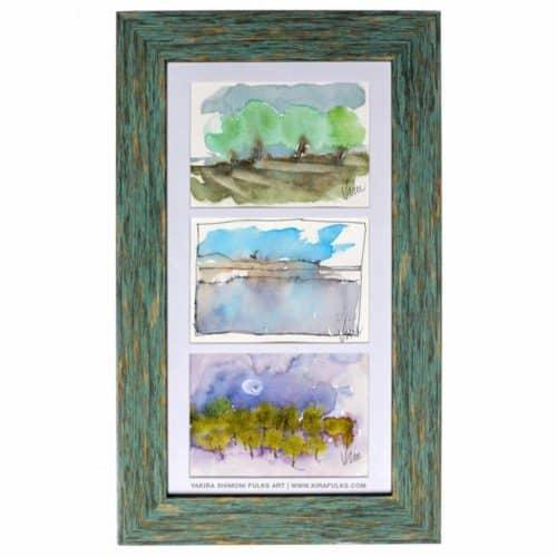 SALTON SEA-Watercolors ©Yakira Shimoni Fulks—Kira Art and Poetry