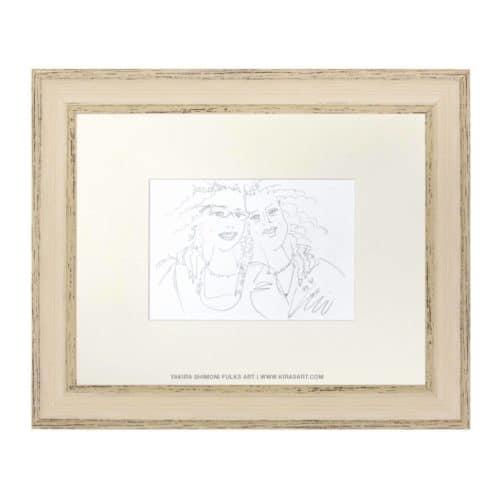 Best Friends-2 pencil drawing ©Yakira Shimoni Fulks—Kiras Art and Poetry