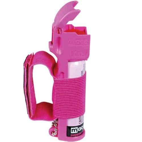 Mace 10% Pepper Spray Jogger Pink Right Side View Cap Up