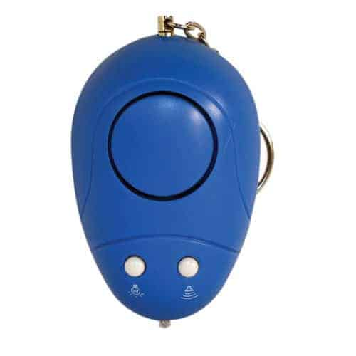 Keychain Alarm with Light Top View Pointed Down