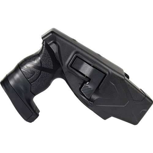 side view of x26p black taser with laser