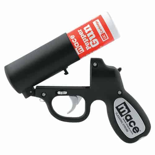 Black Mace Pepper Spray Gun loading view