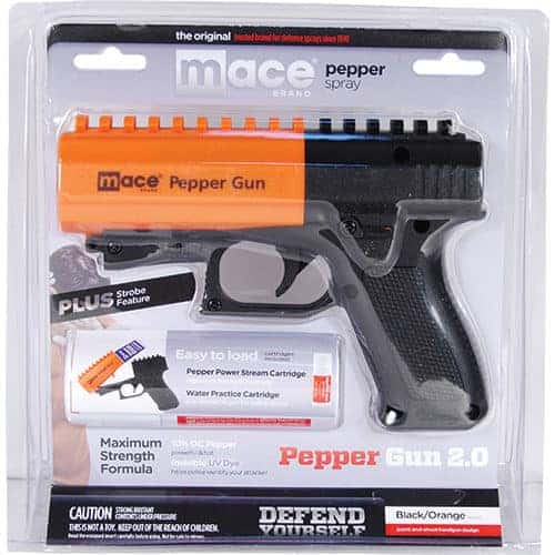 Orange Mace Brand Pepper Spray Gun 2.0 front package view