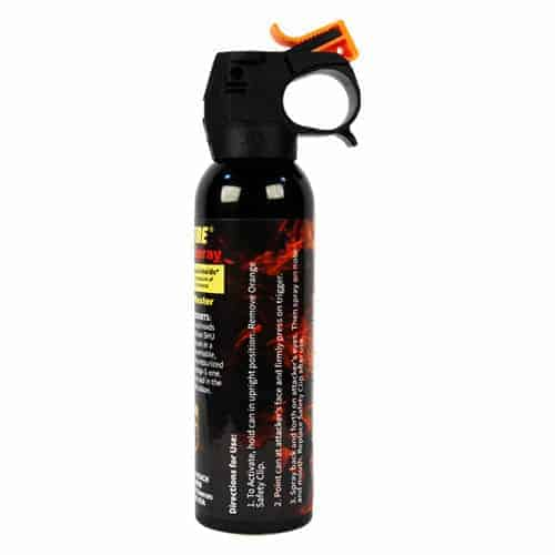9 ounce Fire Master Fogger Wildfire™ 1.4% MC Pepper Spray Side View Direction of Use