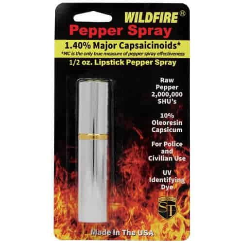 WildFire Silver Lipstick Pepper Spray Blister Pack View