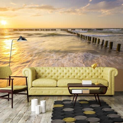 Fototapety 3D Morze Krajobrazy Brzask