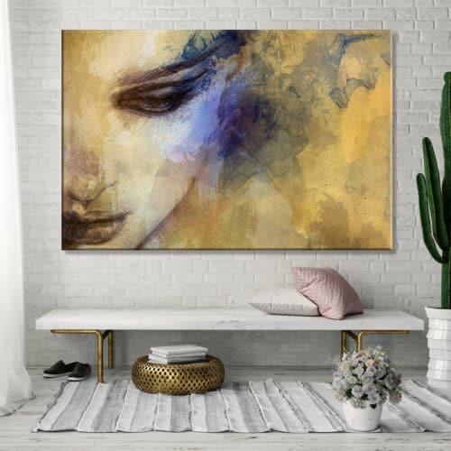 Obraz na płótnie Kobieta Abstrakcja Równowaga