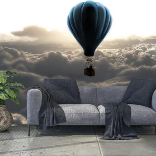 Nowoczesne fototapety 3D nad chmurami