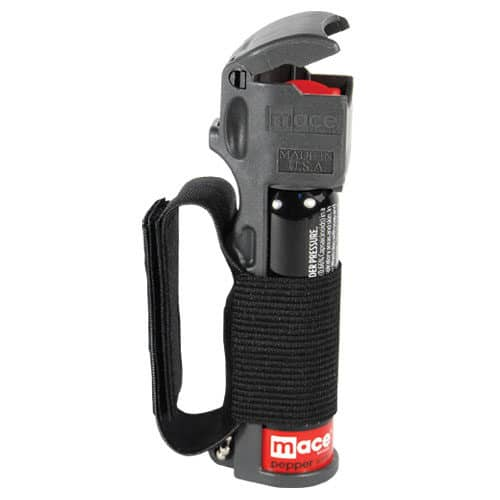 Mace® Pepper Spray Jogger – Flip Top Left Side View With Strap