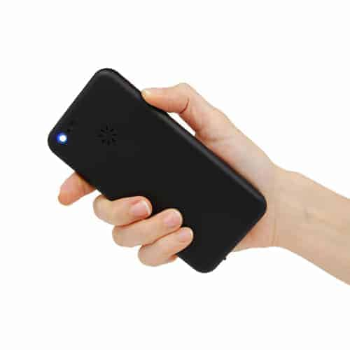 Back Cell Phone Stun Gun in Hand