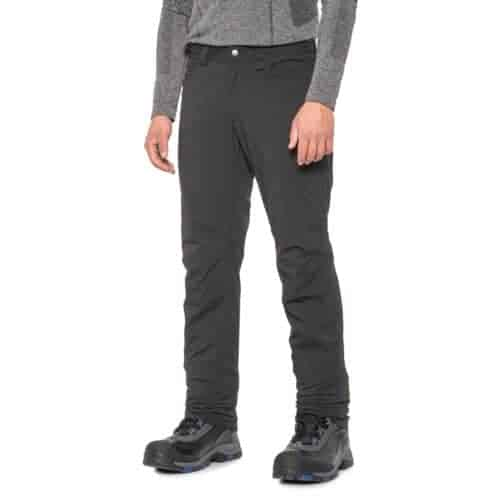 Haglof mens hiking trousers are insulated for outdoor activities in the fall.