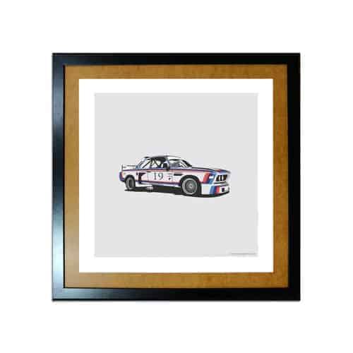 BMW CSL Artprint