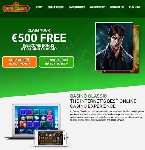 Casino Classic Review free spins bonus