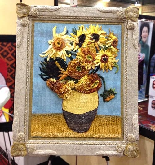Yarn Art - Vincent van Gogh Sunflowers Painting
