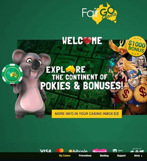 Fair Go Casino for Australia - online pokies
