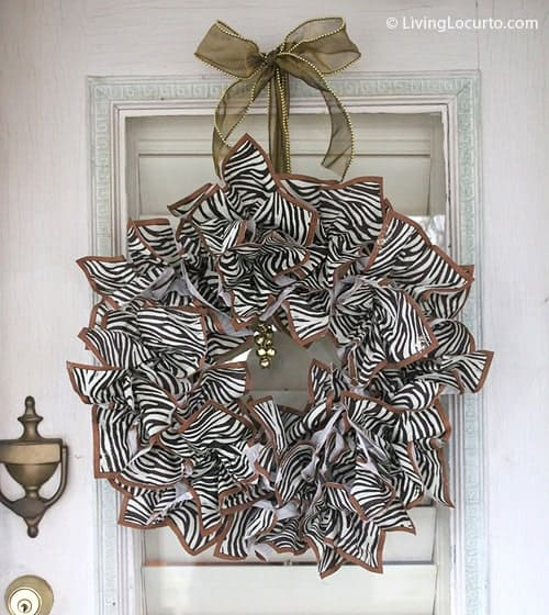 Make a Wreath this holiday with leftover party supplies! Easy DIY Craft by Amy at LivingLocurto.com