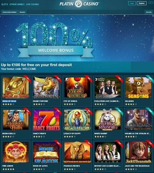 Platin Casino Free Spins