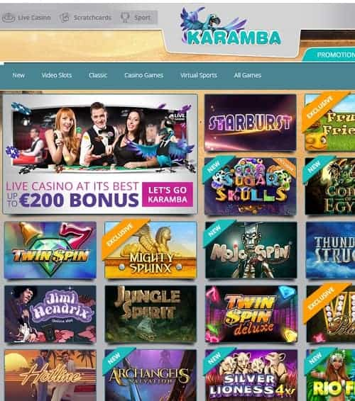 Karamba Casino free spins bonus