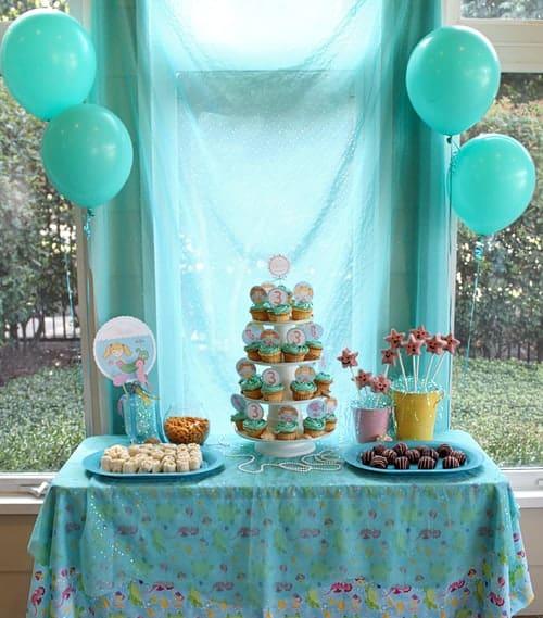 Mermaid Party Dessert Table - Living Locurto