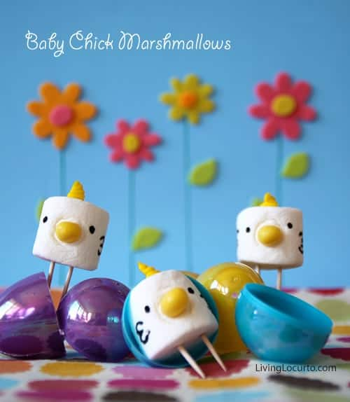 Marshmallow Easter Chick Treats & Free Printable Tags