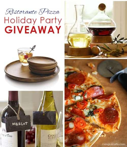 Ristorante Holiday Giveaway! Host a party this season with Pottery Barn, Crate & Barrel party goods! Enter giveaway at LivingLocurto.com