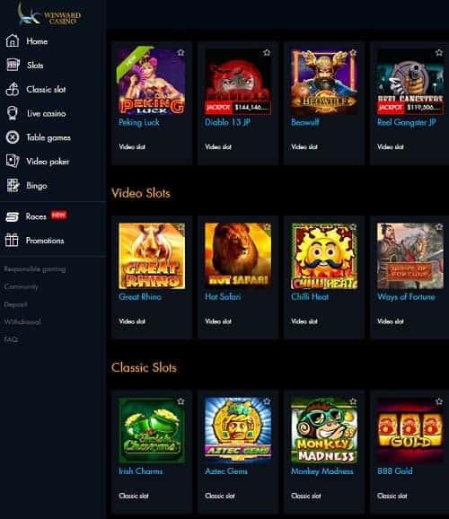 Winward Casino 25 free spins