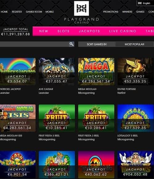 PlayGrandCasino free spins bonus