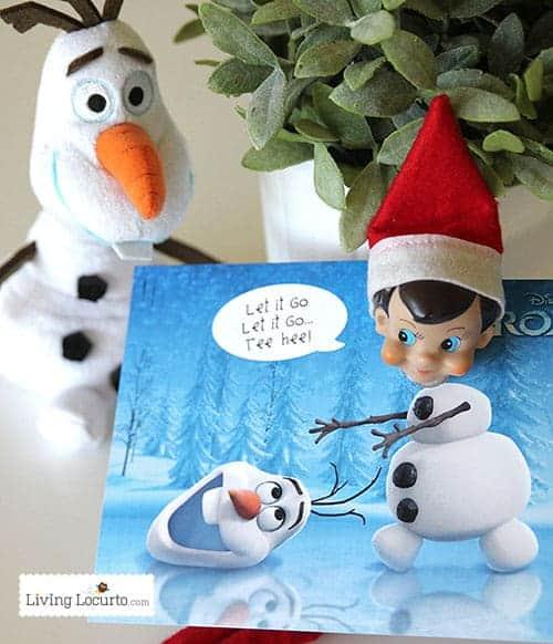 Disney Frozen Elf on the Shelf Ideas - Free Printable