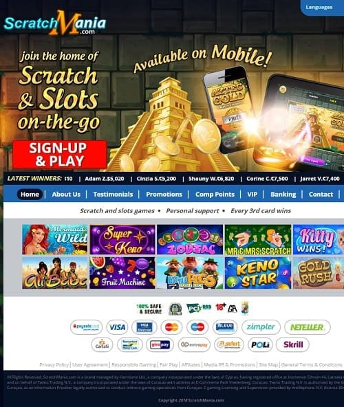 ScratchMania Casino review & rating