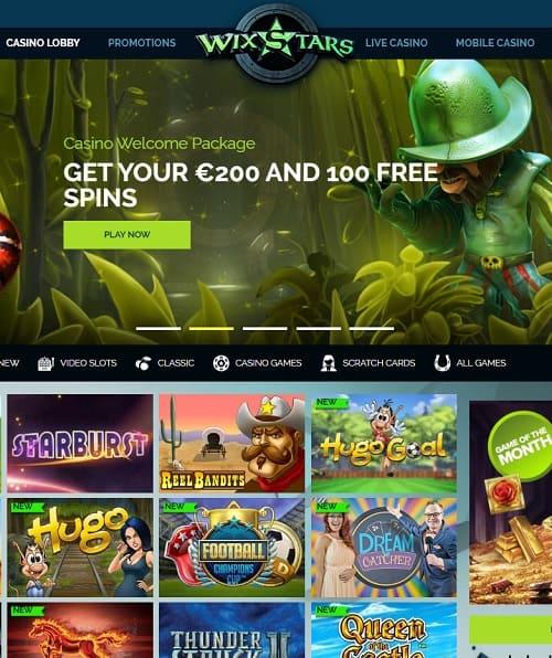Wixstars Casino free bonus