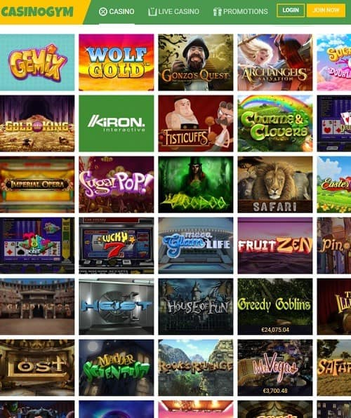 CasinoGym Free Play Games