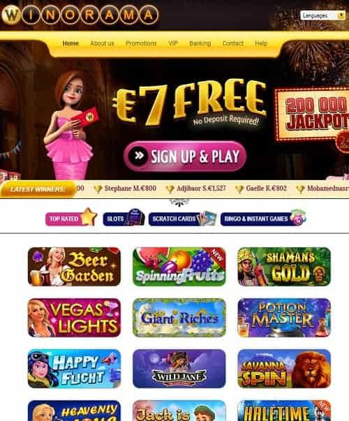 7 EUR no deposit on scratch cards